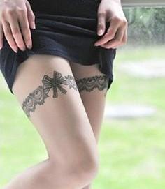 Tattoo temporaire jarretière