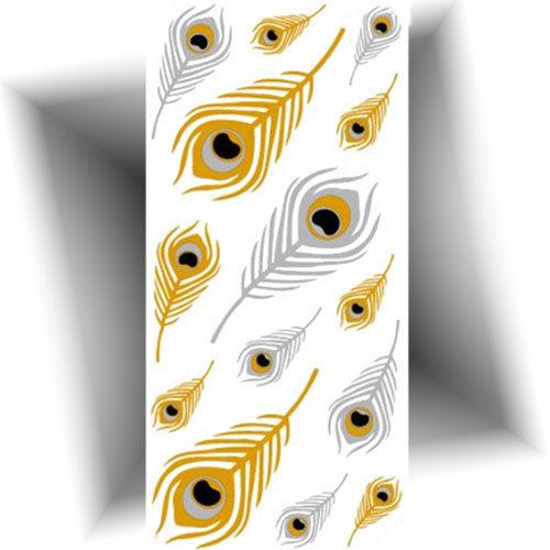 Tatouage-provisoire-métallisé-plumes