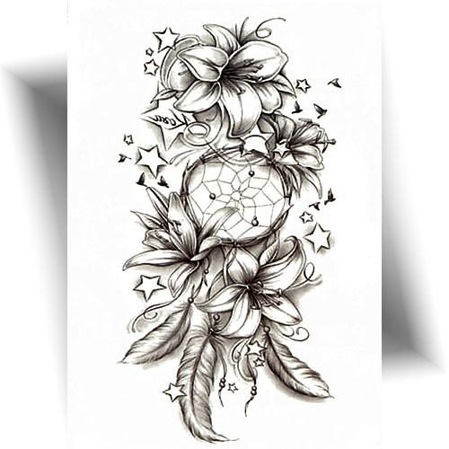 Tatouage temporaire rêve fleuri