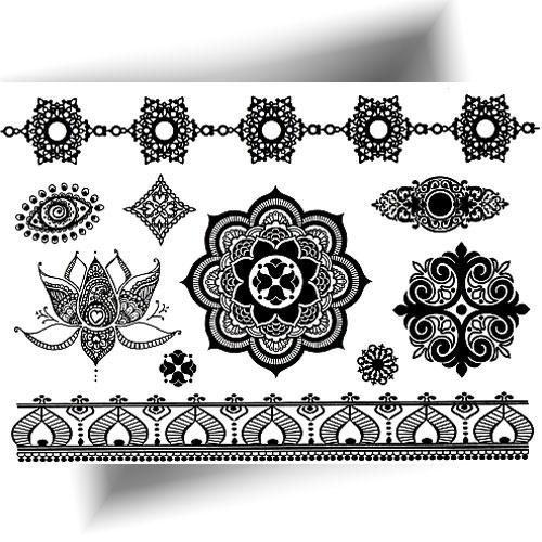 Tattoo temporaire mandala noir