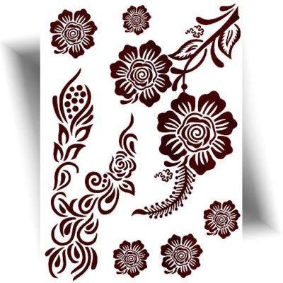 Tatouage-effet-henné-fleurs