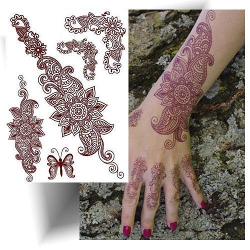 Tatouage effet henné oriental