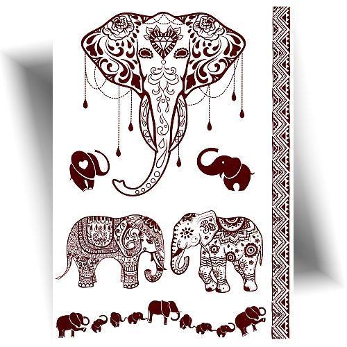 Tatouage henné éléphant