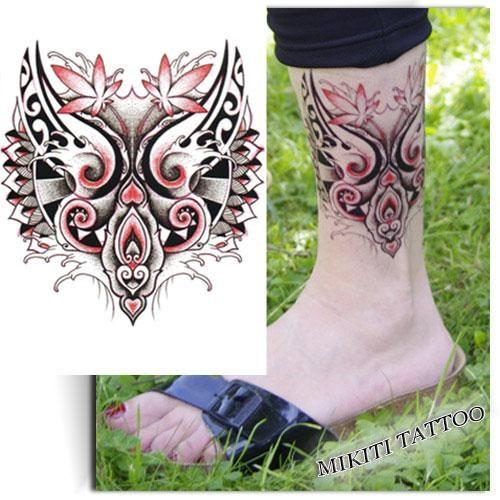 Tatouage-éphémère-loup-Maori