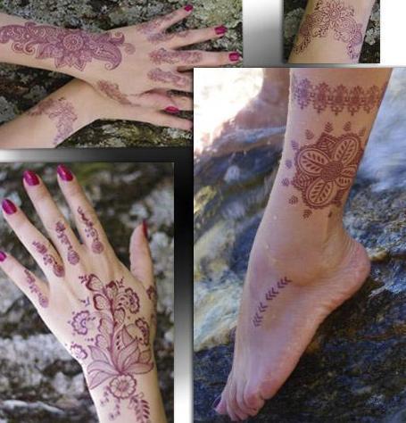 Tatouage temporaire effet henné brun