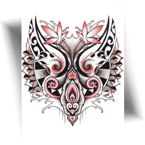 Tatouage-temporaire-loup-Maori