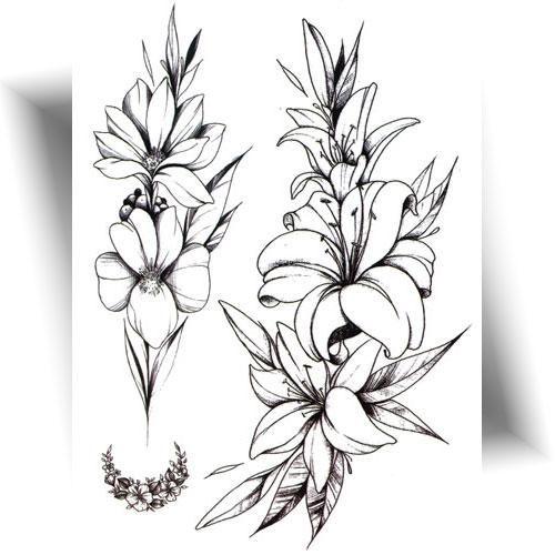 Tatouage-décalcomanie-fleur-Lys