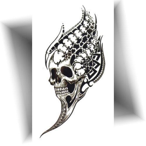 Tatouage-éphémère-crâne-noir