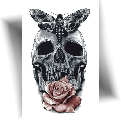 Tatouage-éphémère-crâne-sphinx