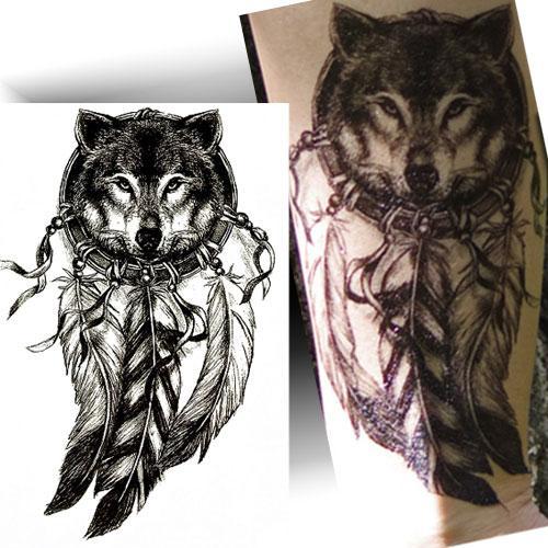 Tatouage-éphémère-esprit-loup
