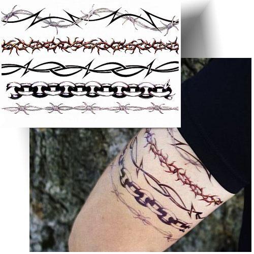 Tatouage-éphémère-fil-barbelé