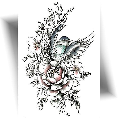 Tatouage-éphémère-flower-nest
