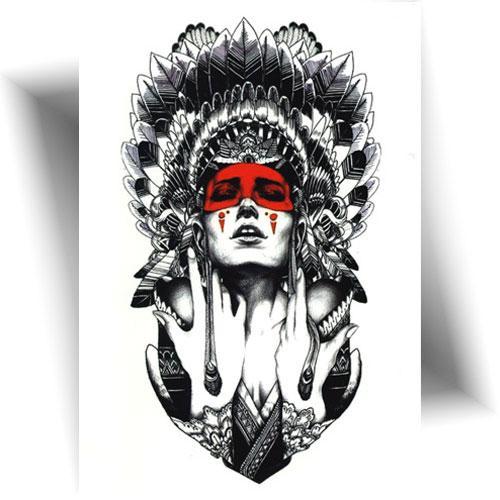 Tatouage-éphémère-indienne