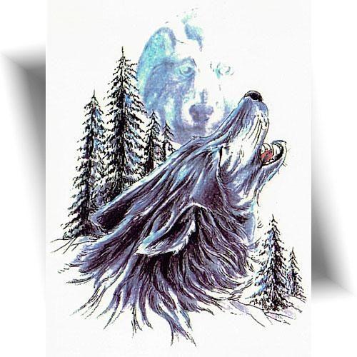 Tatouage-éphémère-loup