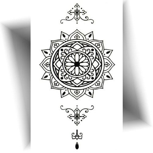 Tatouage-éphémère-mandala-noir