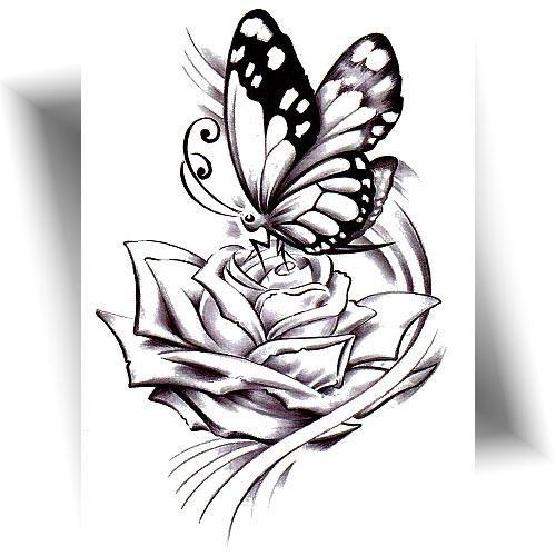 Tatouage-éphémère-papillon-rose