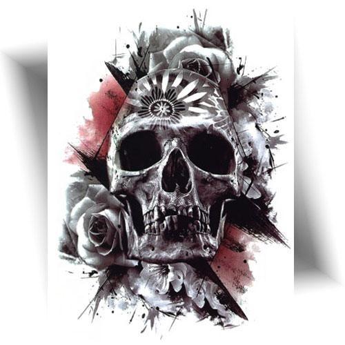 Tatouage-éphémère-skull