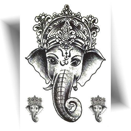 Tatouage-temporaire-Ganesh-éléphant
