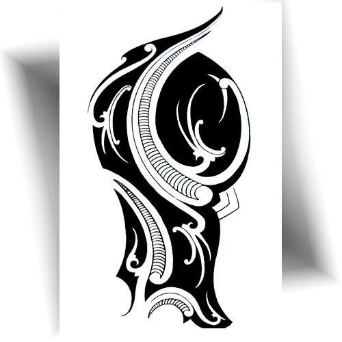 Tatouage-temporaire-Maori-noir