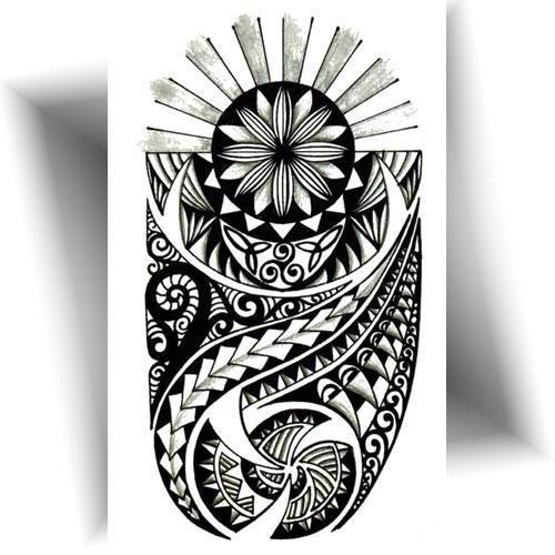 Tatouage-temporaire-bras-Maori