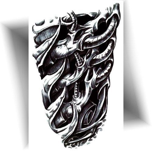 Tatouage-temporaire-bras-organique