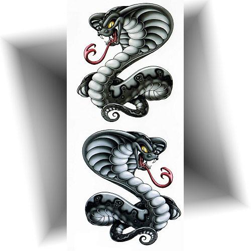 Tatouage-temporaire-cobra-royal