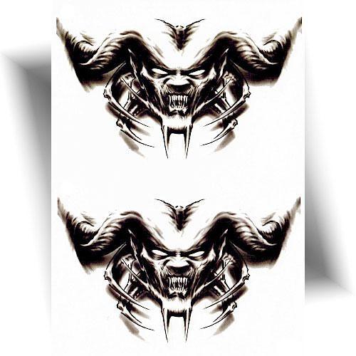 Tatouage-temporaire-démons-maléfiques