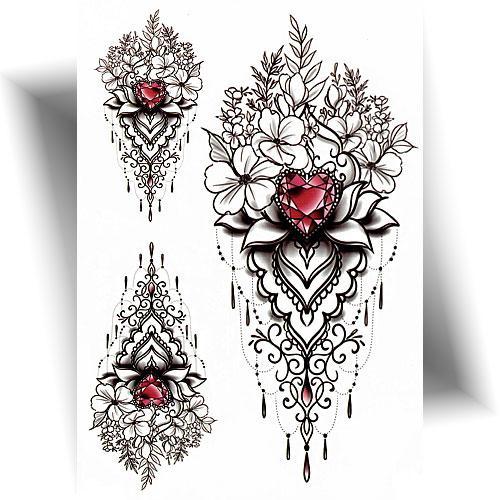 Tatouage-temporaire-écrin-floral