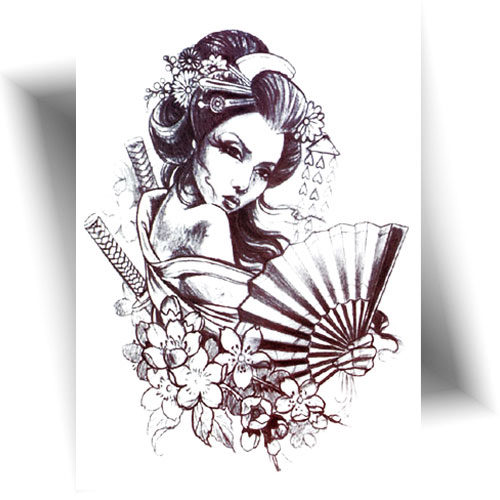 Tatouage-temporaire-geisha