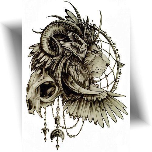 Tatouage-temporaire-guépard