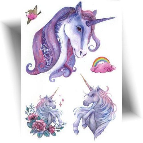 Tatouage-temporaire-licorne-féerique