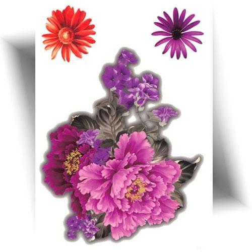 Tatouage-temporaire-pivoine-rose