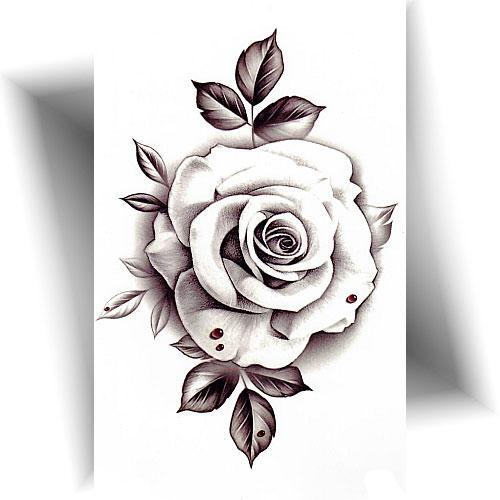 Tatouage-temporaire-rose-blanche