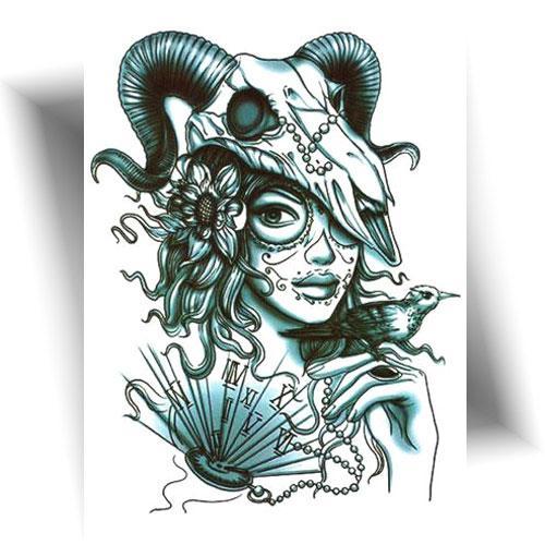 Tatouage-temporaire-sorcière-du-temps