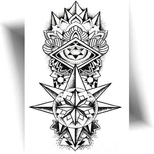 Tatouage-temporaire-totem-étoilé