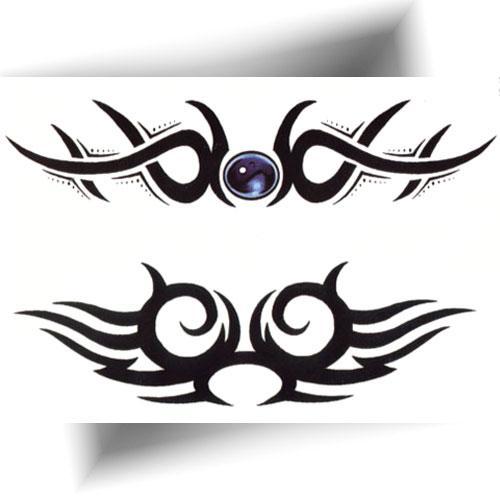 Tatouage-temporaire-tribal-noir