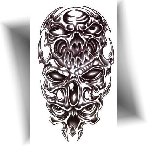Tatouage-temporaire-trio-démons