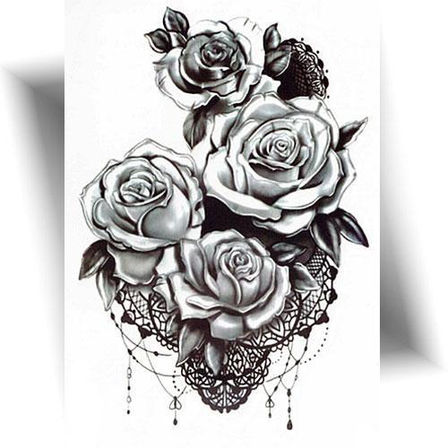 Tattoo-provisoire-lace-roses