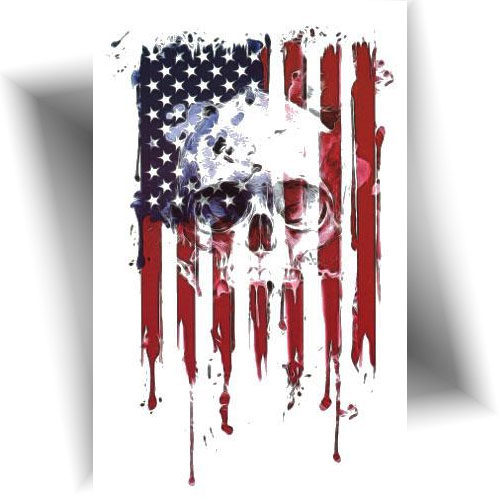 tatouage-éphémère-flag-skull-USA