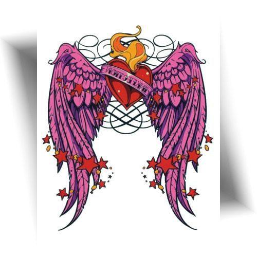 tatouage temporaire cœur sacré