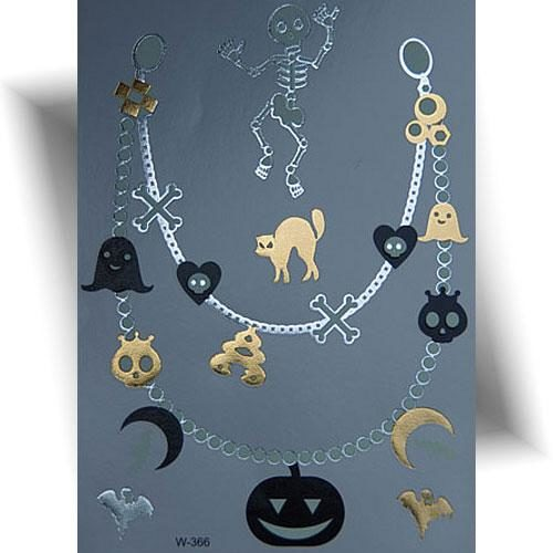 Tatouage-Halloween-collier-phosphorescent