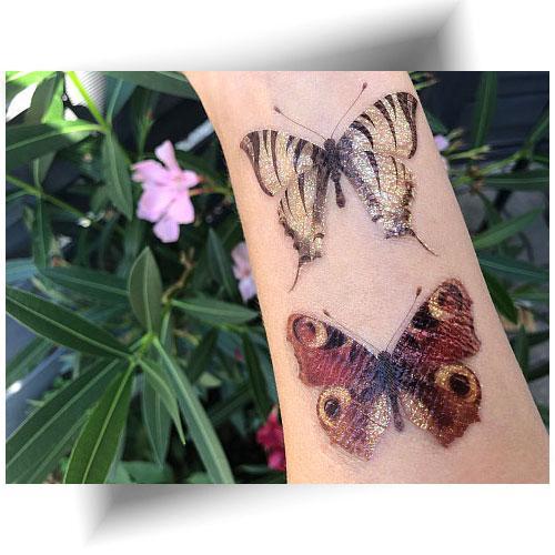 Tatouage-éphémère-papillons-pailletés