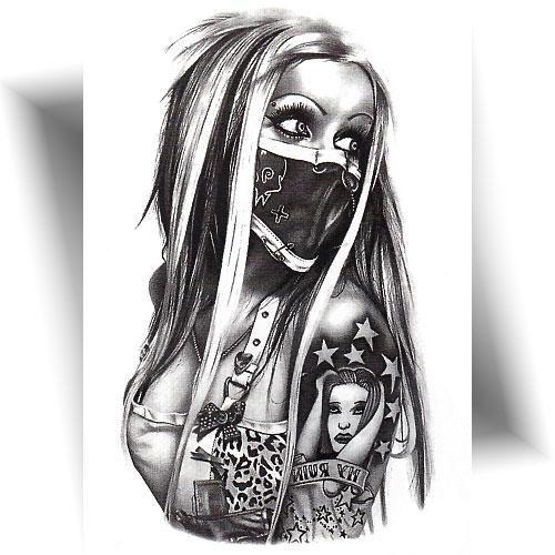 Tatouage temporaire bandit girl