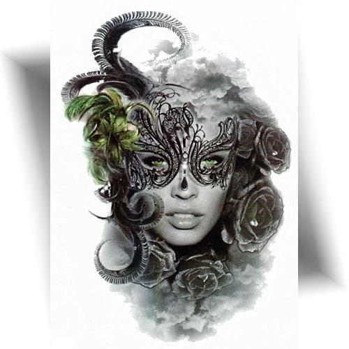 Tattoo éphémère masquerade girl