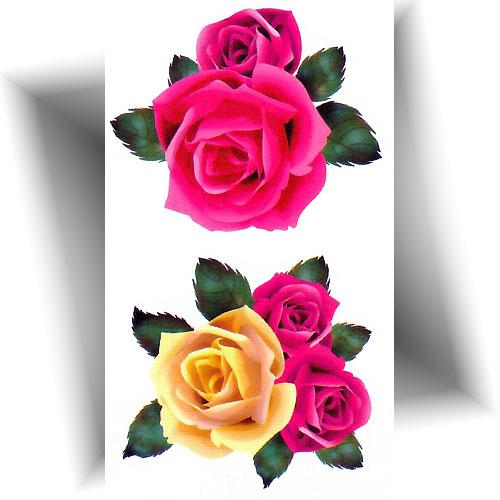 Mini-tatouage-provisoire-rose