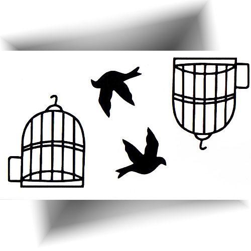 Tatouage-éphémère-oiseaux-cages