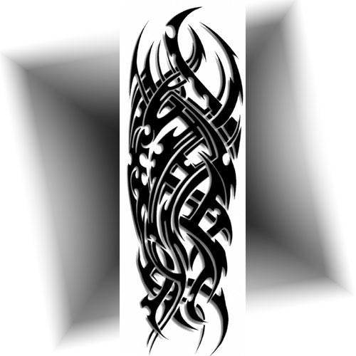 Tatouage-bras-entier-tribal-noir