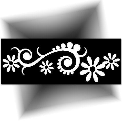 Pochoir tatouage - fleur orientale