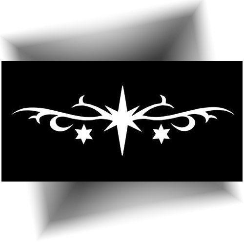 Pochoir tatouage - grand étoile