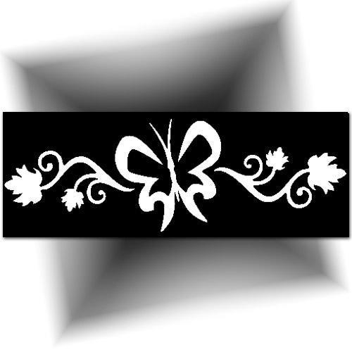 Pochoir tatouage - grand papillon